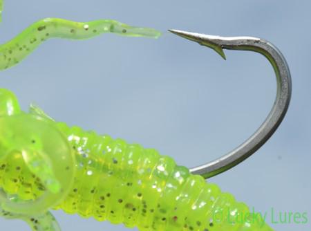 Stabiler Einzelhaken des Squirm Worms.