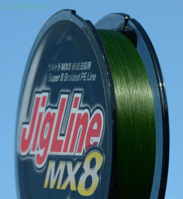 JigLine MX8 mit maximaler Power für Großräuber.