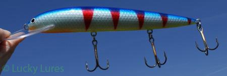 Rote Streifen gepaart mit Blau und Silber: tödlich.