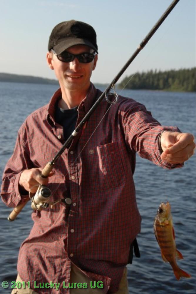 Beifang beim Köderfischangeln.