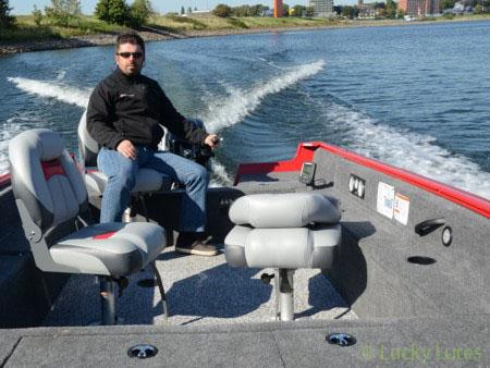 Aluminium-Boot von Tracker sind geräumig.