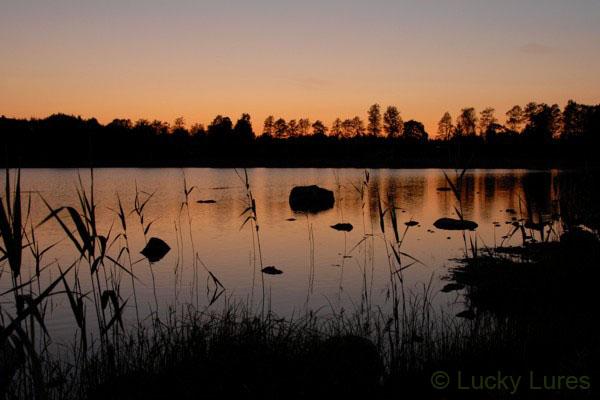 Sonnenuntergang am Bolmen.