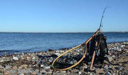 Küste Fünen, perfekt für das Meerforellenangeln mit Blinkern.