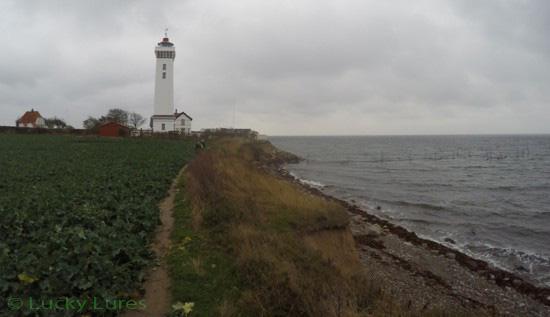 Leuchtturm von Helnæs markiert ein Top-Revier.