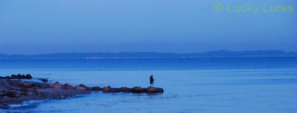 Abendstimmung beim Meerforellenangeln.